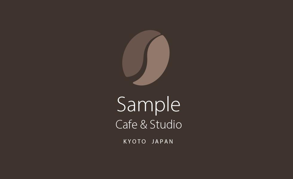 山小屋をイメージしたカフェのロゴ